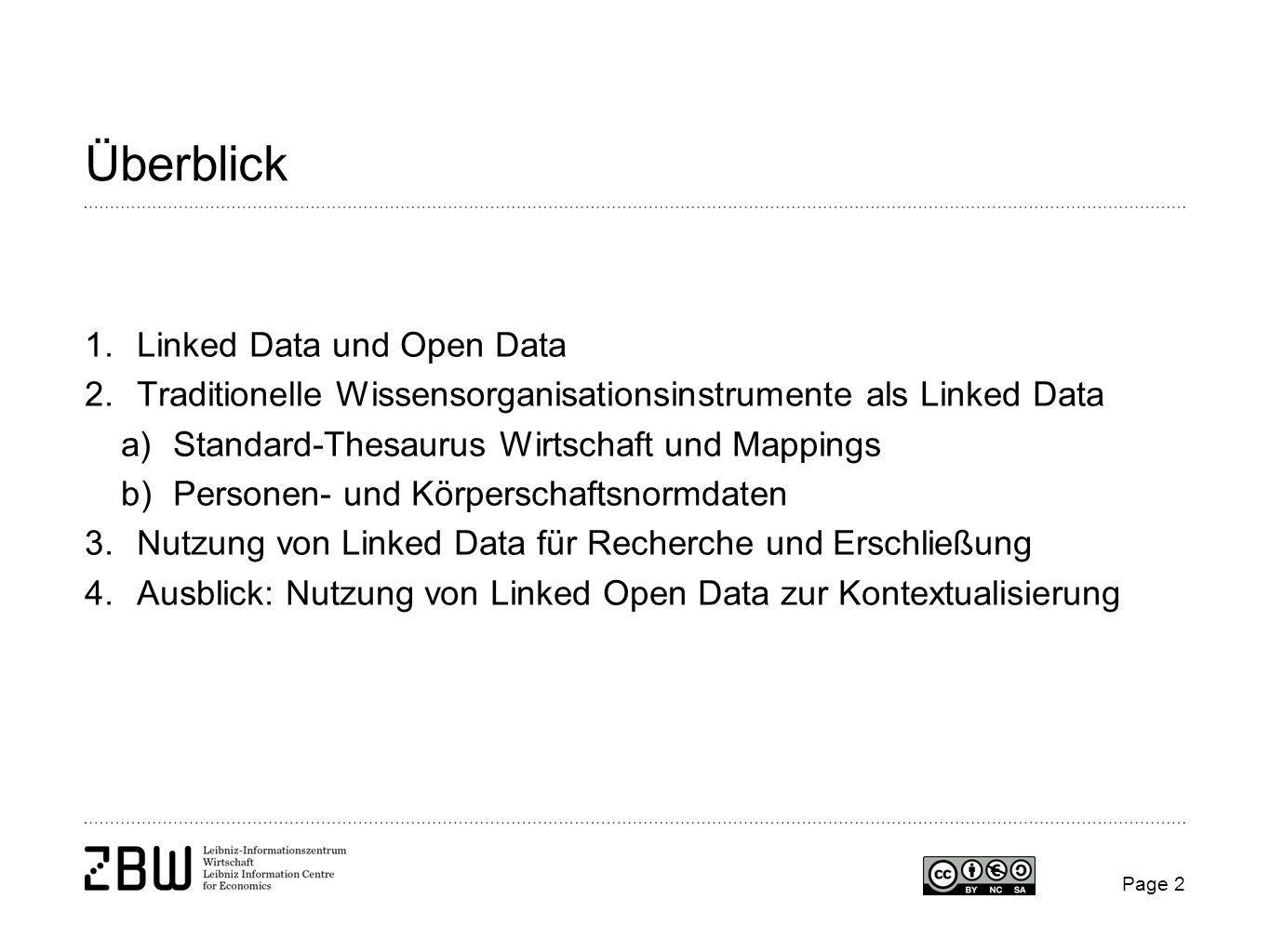 Überblick Linked Data und Open Data