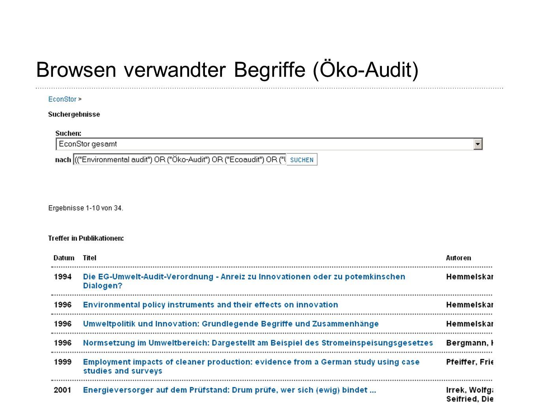 Browsen verwandter Begriffe (Öko-Audit)