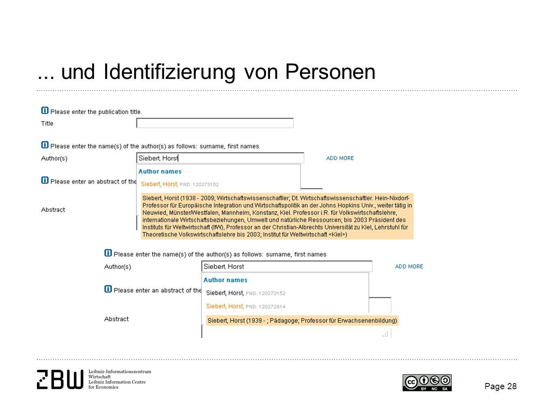 ... und Identifizierung von Personen