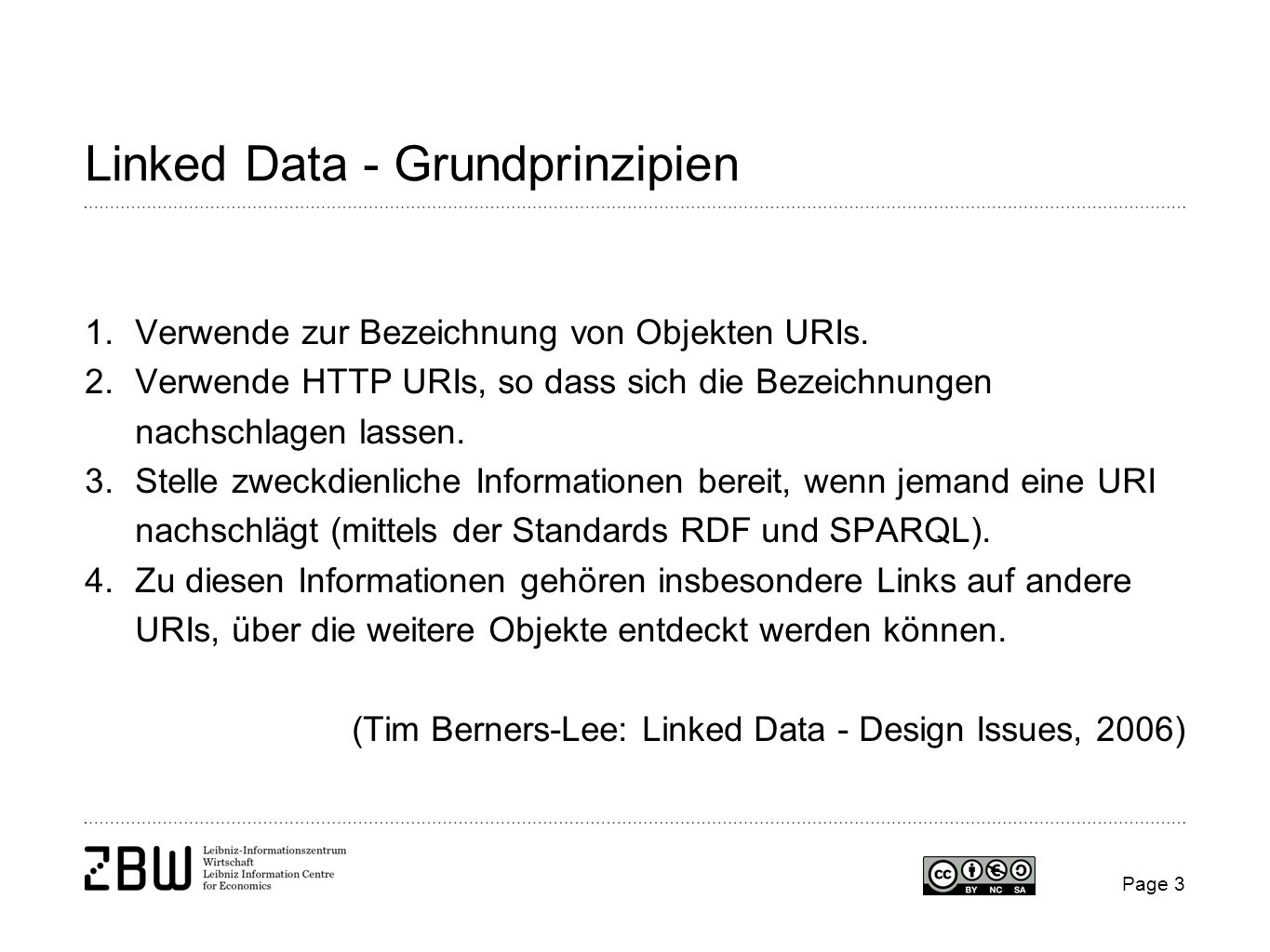 Linked Data - Grundprinzipien