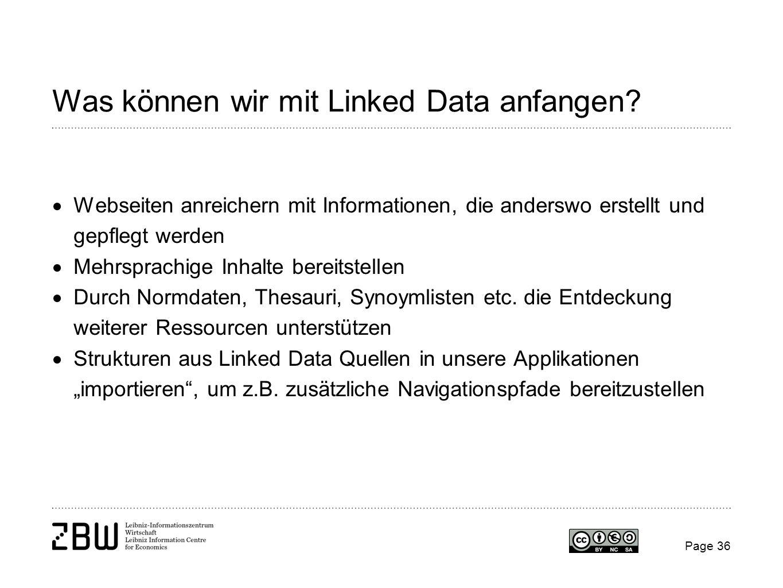 Was können wir mit Linked Data anfangen