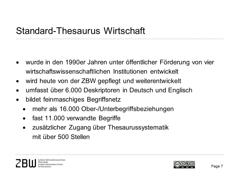 Standard-Thesaurus Wirtschaft