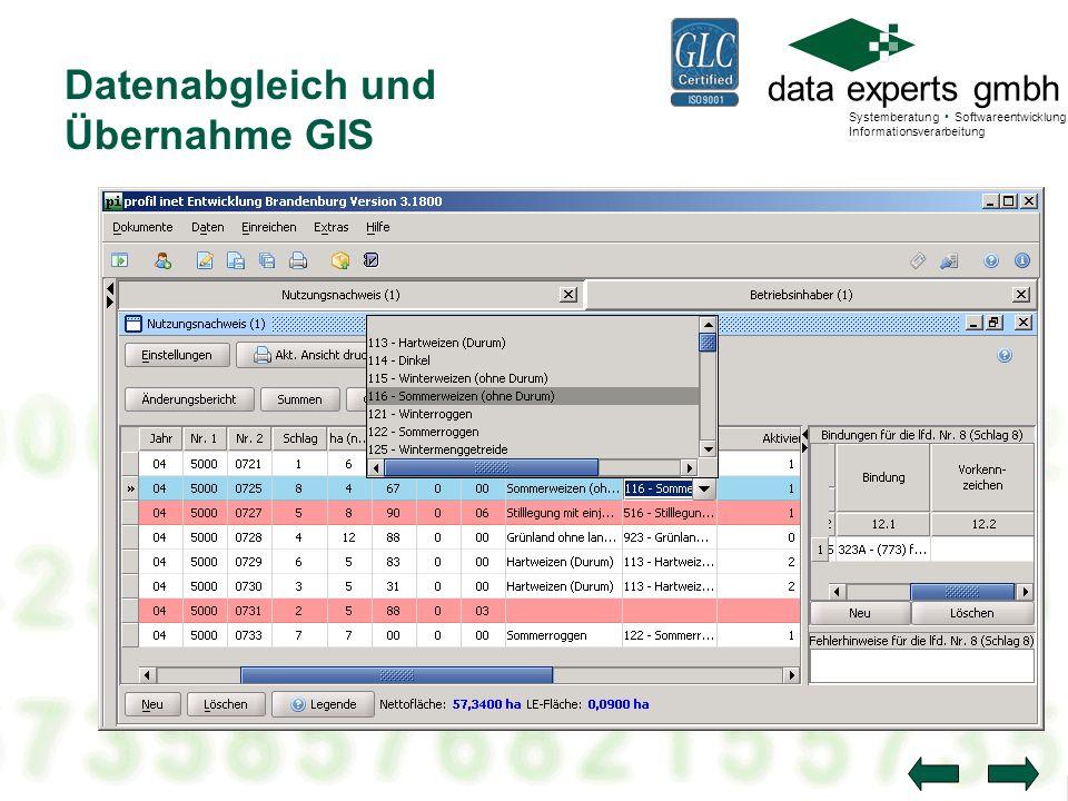 Datenabgleich und Übernahme GIS
