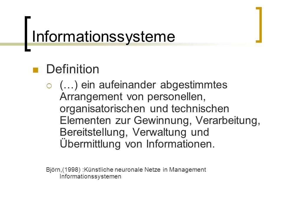 Informationssysteme Definition