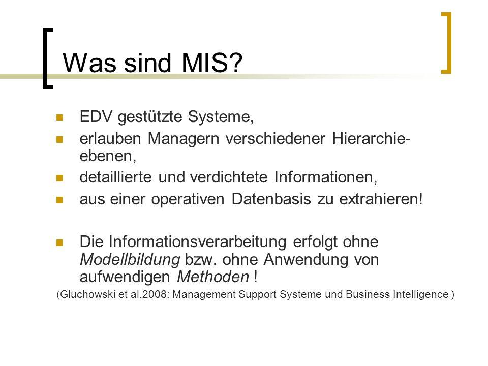 Was sind MIS EDV gestützte Systeme,