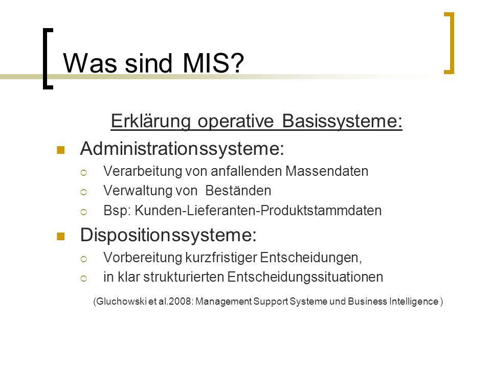 Erklärung operative Basissysteme: