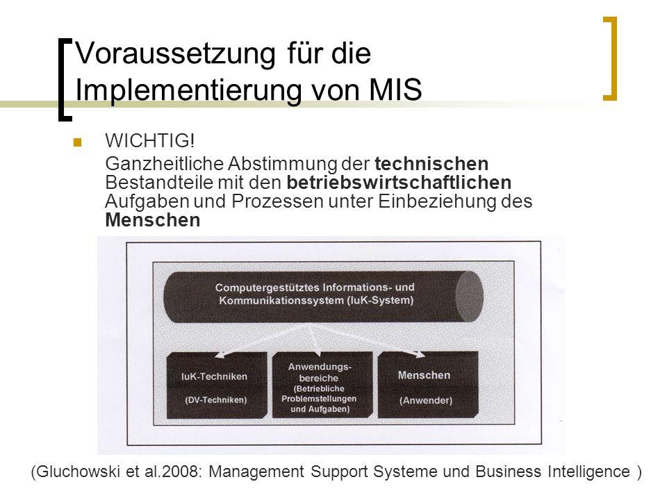 Voraussetzung für die Implementierung von MIS