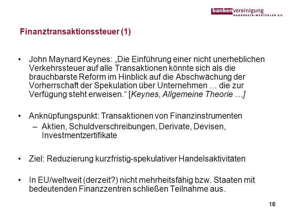 Finanztransaktionssteuer (1)
