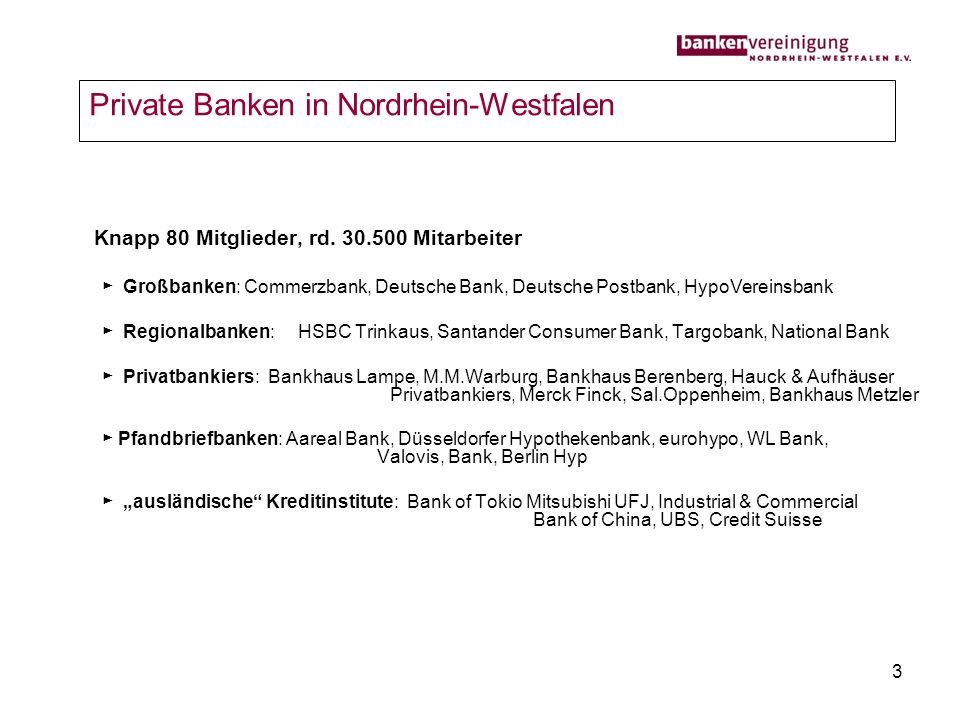 Private Banken in Nordrhein-Westfalen