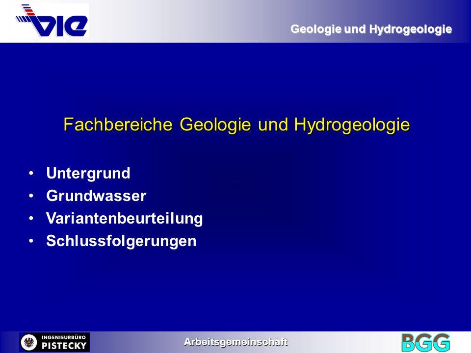 Fachbereiche Geologie und Hydrogeologie