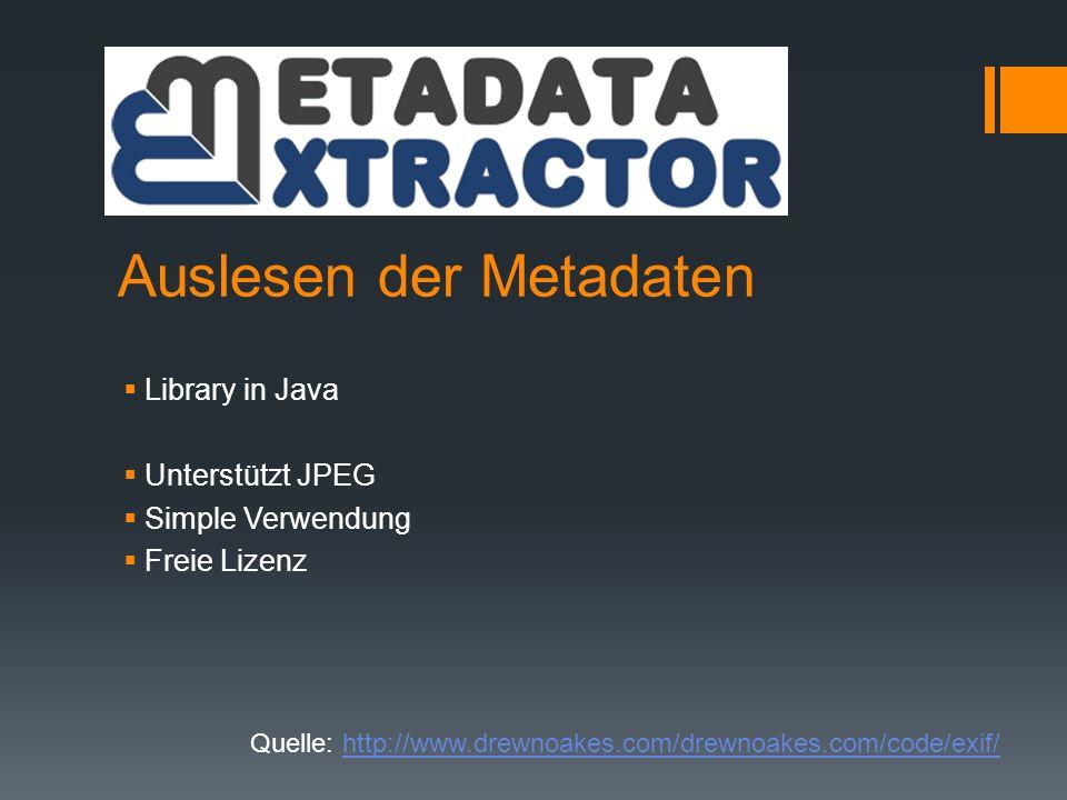 Auslesen der Metadaten