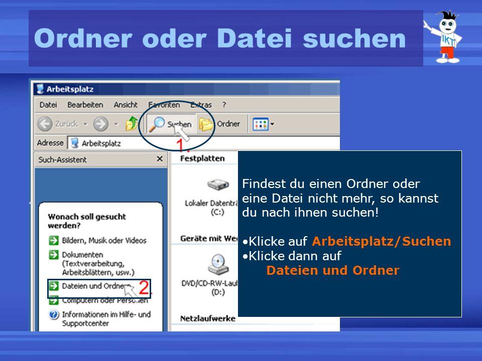 Ordner oder Datei suchen