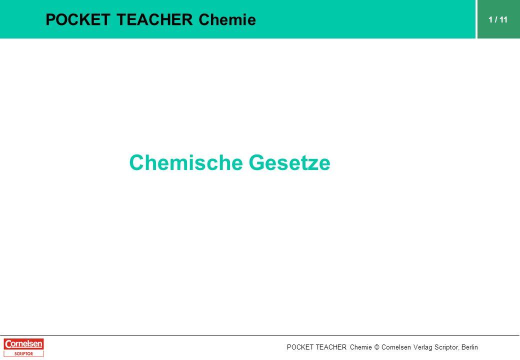 Chemische Gesetze POCKET TEACHER Chemie 1 / 11