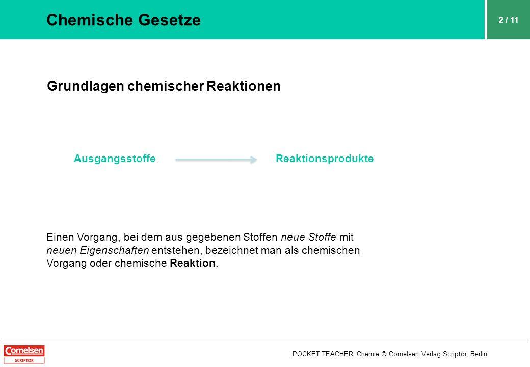 Chemische Gesetze Grundlagen chemischer Reaktionen