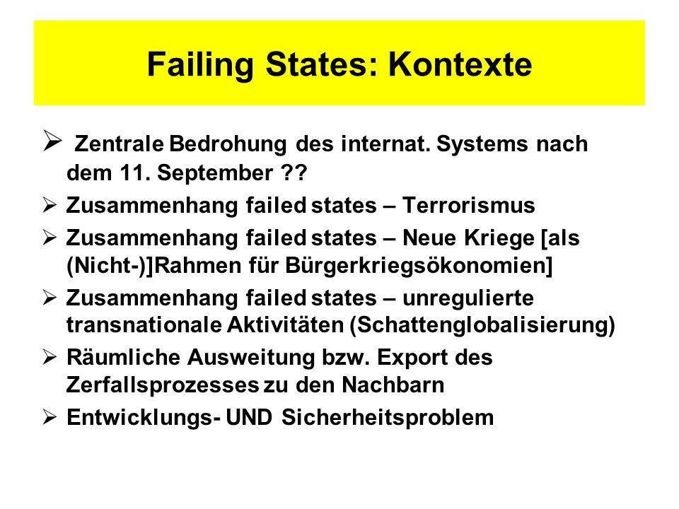 Fragen an failing states: