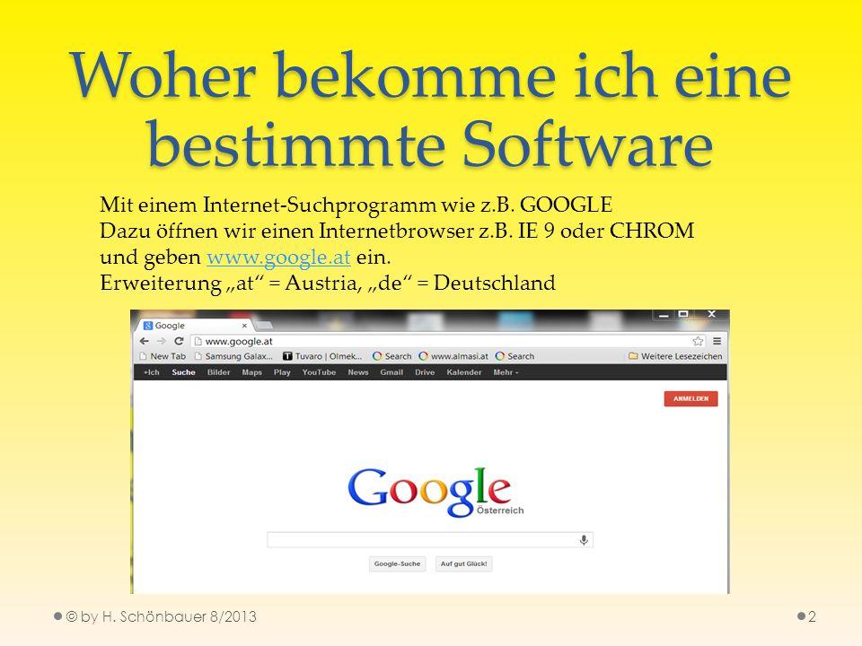 Woher bekomme ich eine bestimmte Software