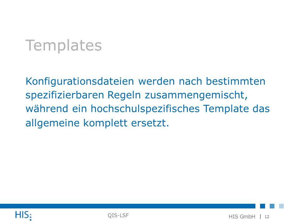 Templates Konfigurationsdateien werden nach bestimmten