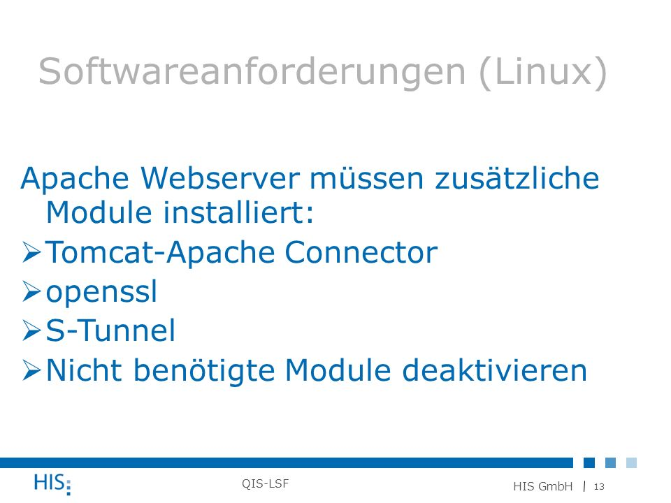 Softwareanforderungen (Linux)