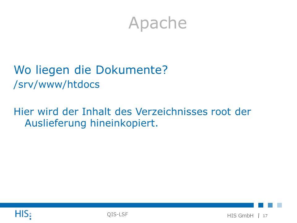 Apache Wo liegen die Dokumente /srv/www/htdocs