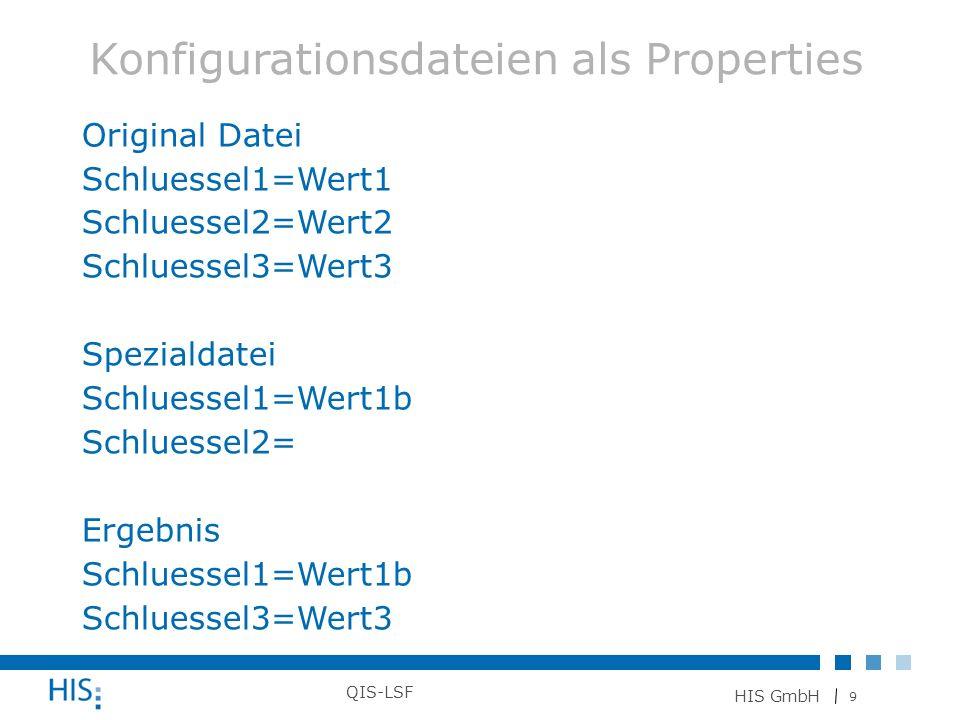 Konfigurationsdateien als Properties