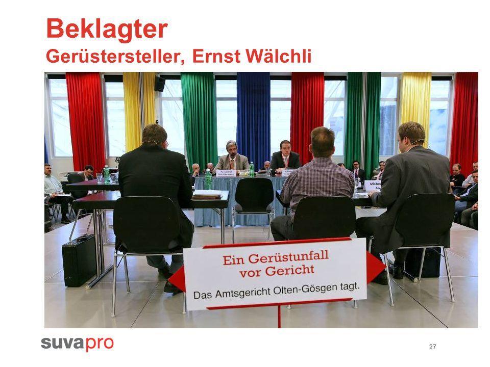 Beklagter Gerüstersteller, Ernst Wälchli