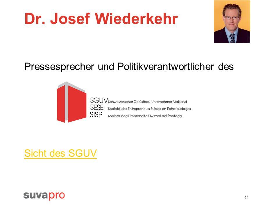 Dr. Josef Wiederkehr Pressesprecher und Politikverantwortlicher des