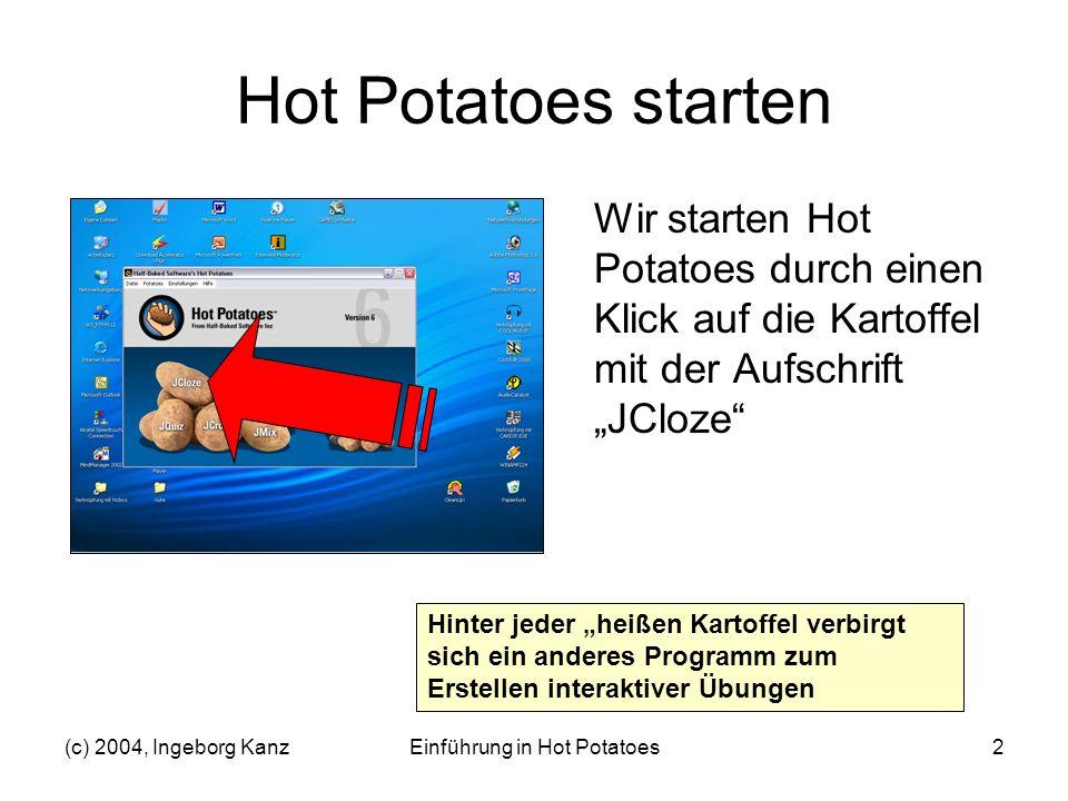 Einführung in Hot Potatoes