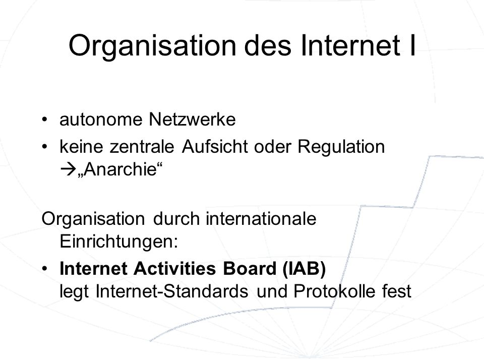 Organisation des Internet I
