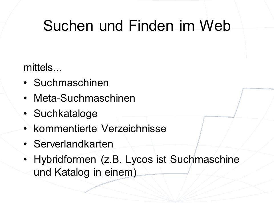 Suchen und Finden im Web