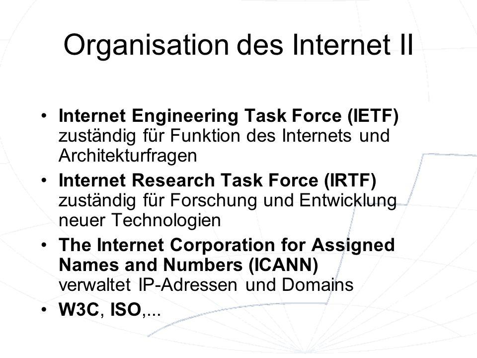 Organisation des Internet II