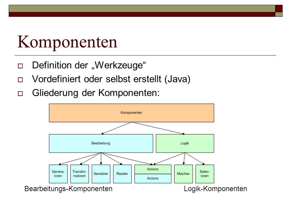 """Komponenten Definition der """"Werkzeuge"""