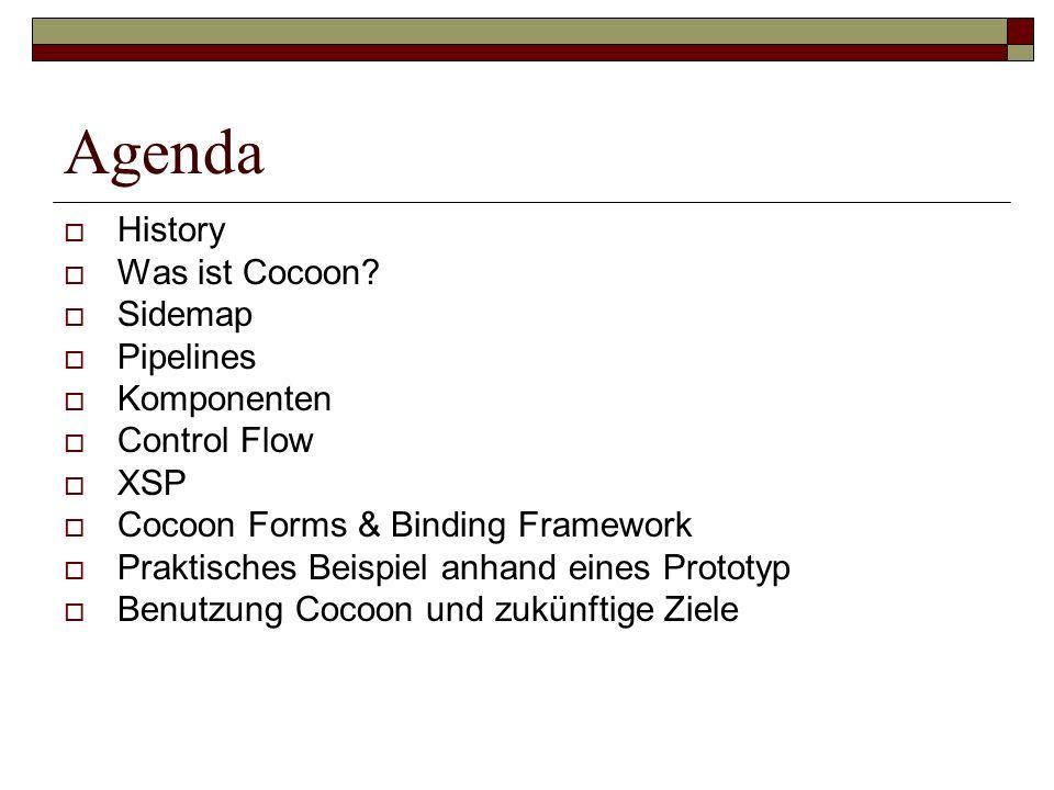 Agenda History Was ist Cocoon Sidemap Pipelines Komponenten