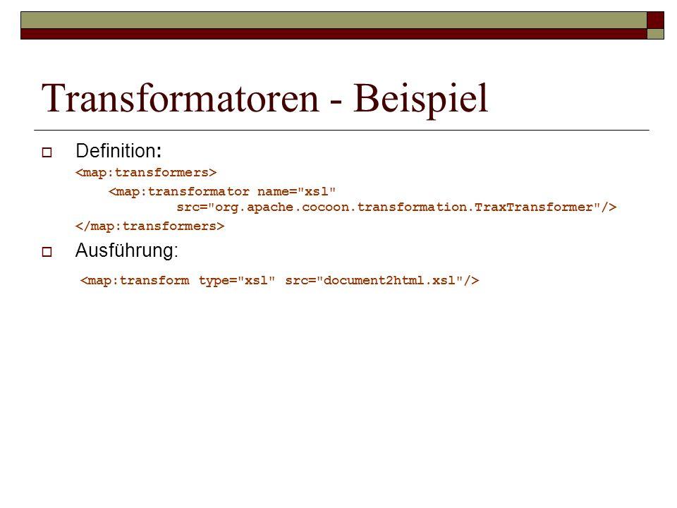 Transformatoren - Beispiel