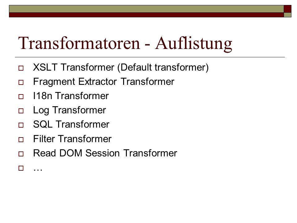 Transformatoren - Auflistung