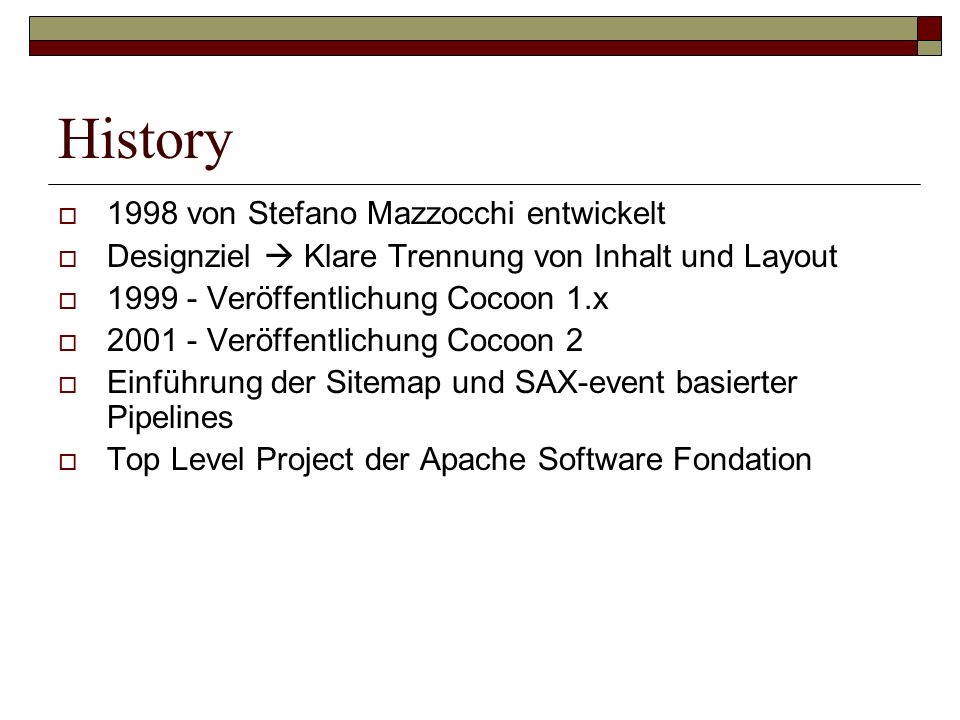 History 1998 von Stefano Mazzocchi entwickelt