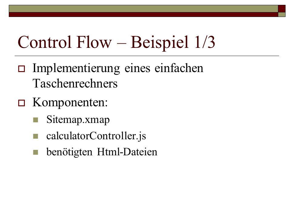 Control Flow – Beispiel 1/3