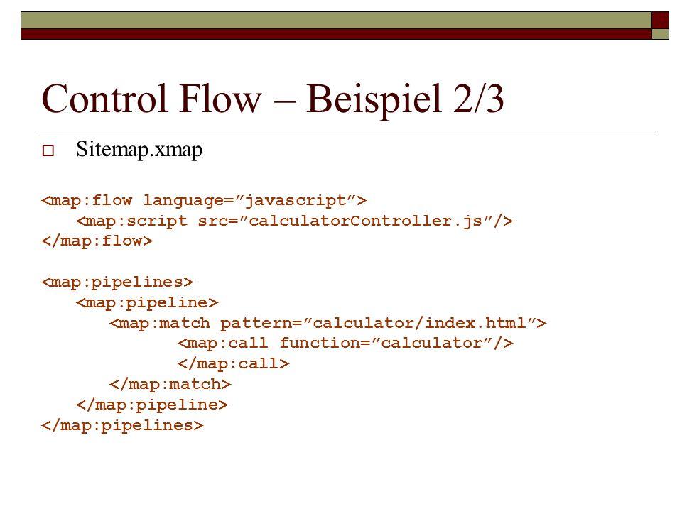 Control Flow – Beispiel 2/3