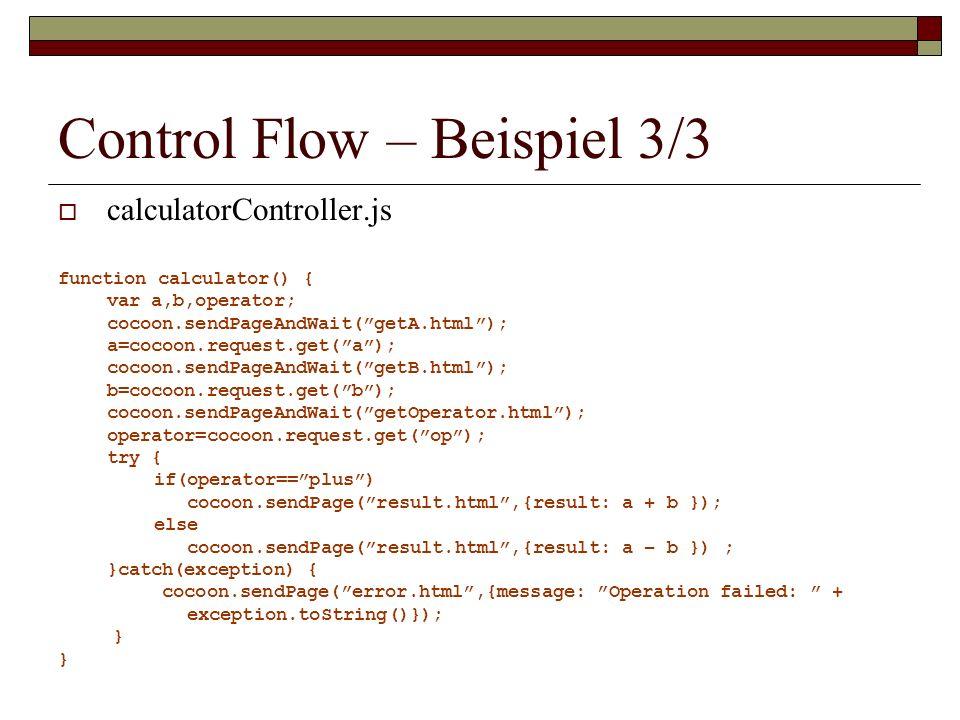 Control Flow – Beispiel 3/3
