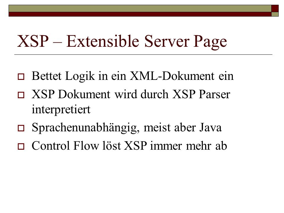 XSP – Extensible Server Page