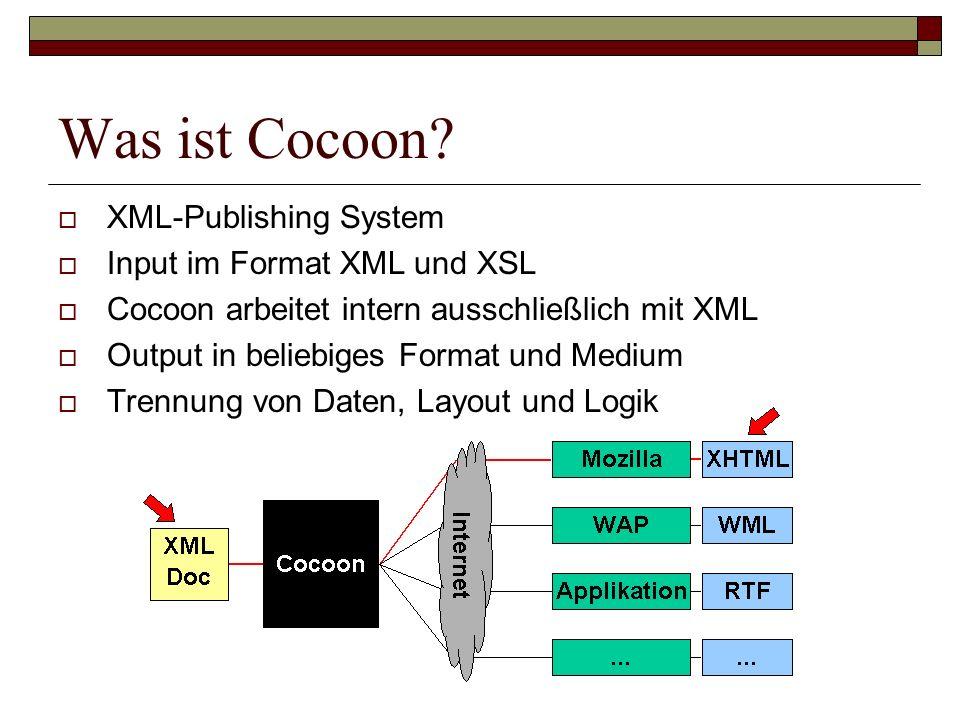 Was ist Cocoon XML-Publishing System Input im Format XML und XSL