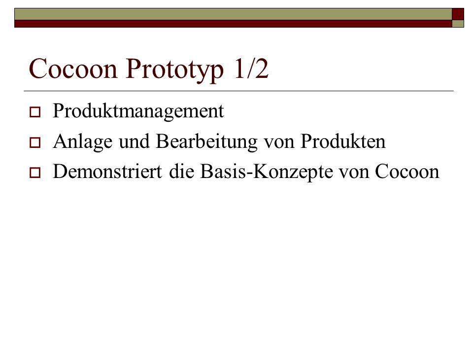 Cocoon Prototyp 1/2 Produktmanagement