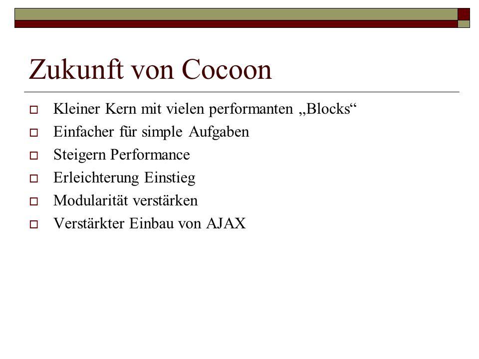 """Zukunft von Cocoon Kleiner Kern mit vielen performanten """"Blocks"""