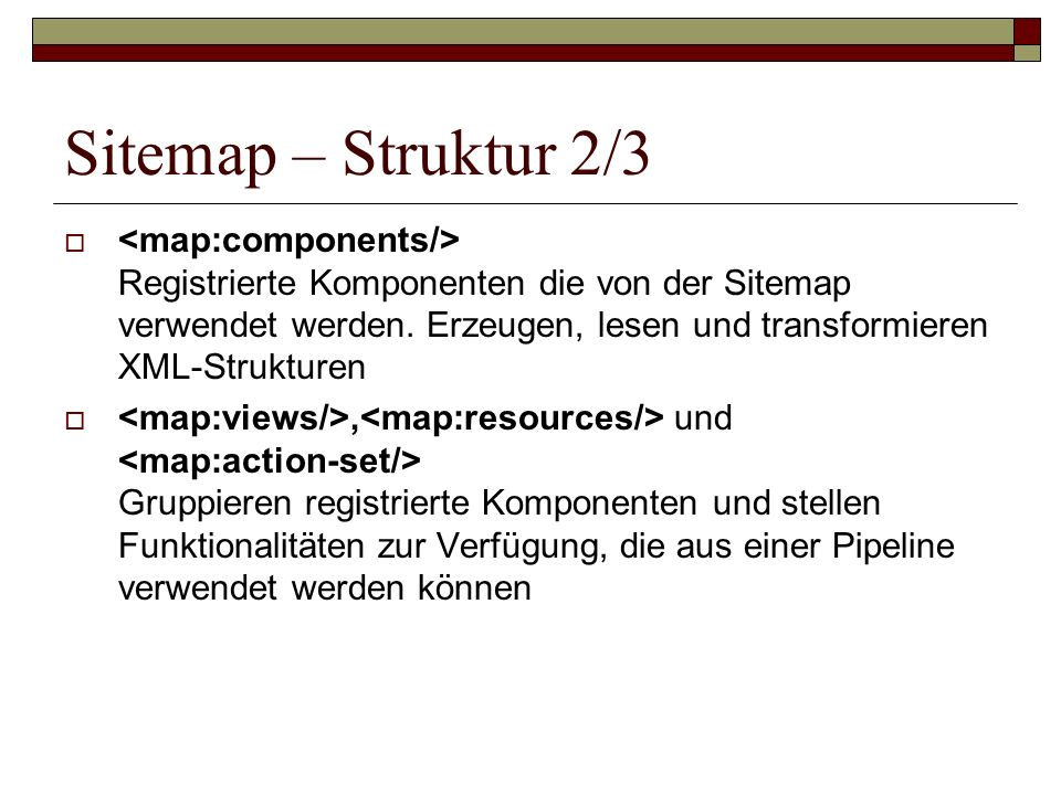 Sitemap – Struktur 2/3