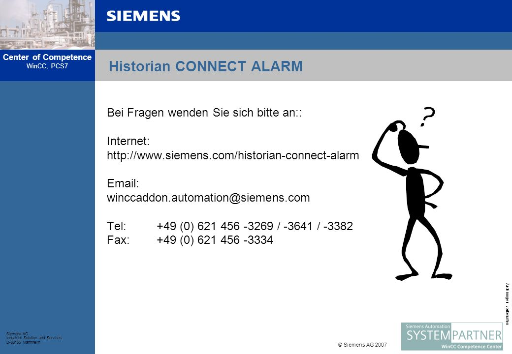 Historian CONNECT ALARM