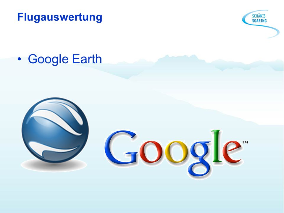 Flugauswertung Google Earth