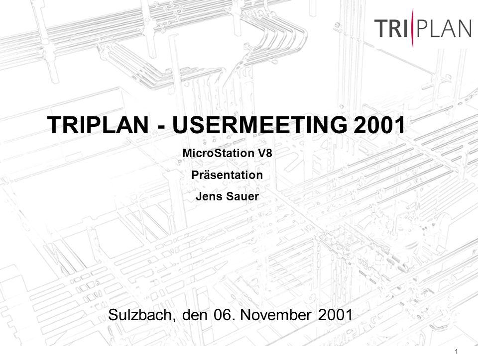 TRIPLAN - USERMEETING 2001 Sulzbach, den 06. November 2001