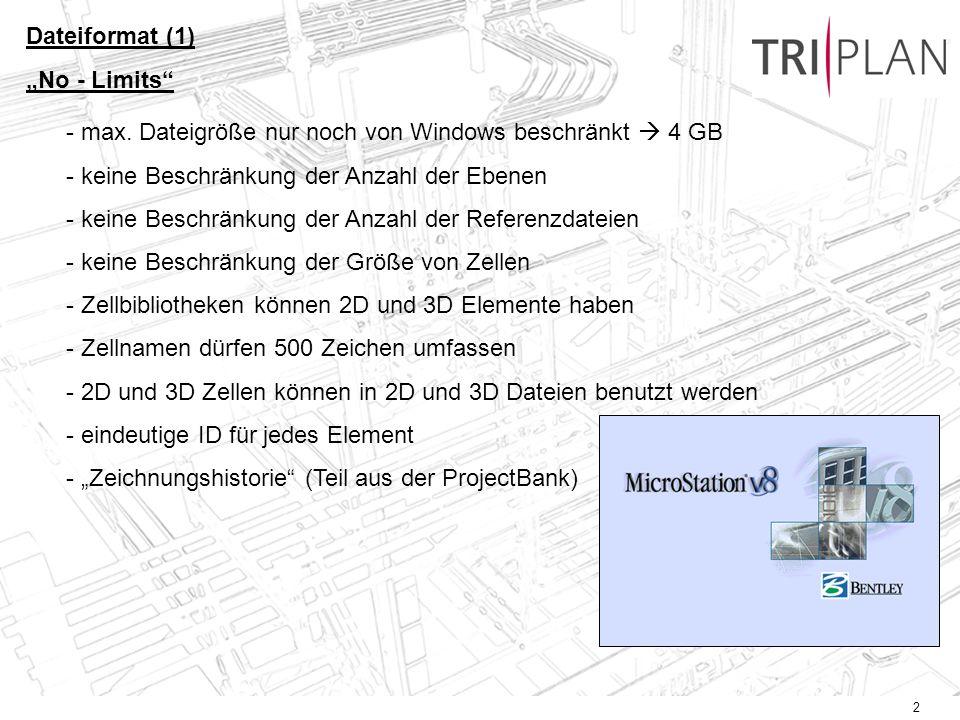 """Dateiformat (1) """"No - Limits max. Dateigröße nur noch von Windows beschränkt  4 GB. keine Beschränkung der Anzahl der Ebenen."""