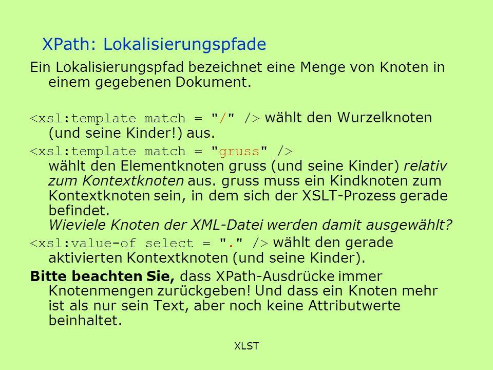 XPath: Lokalisierungspfade