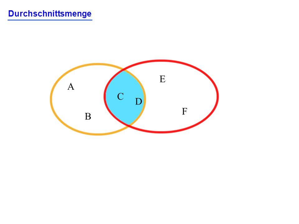 Durchschnittsmenge A B C D E F