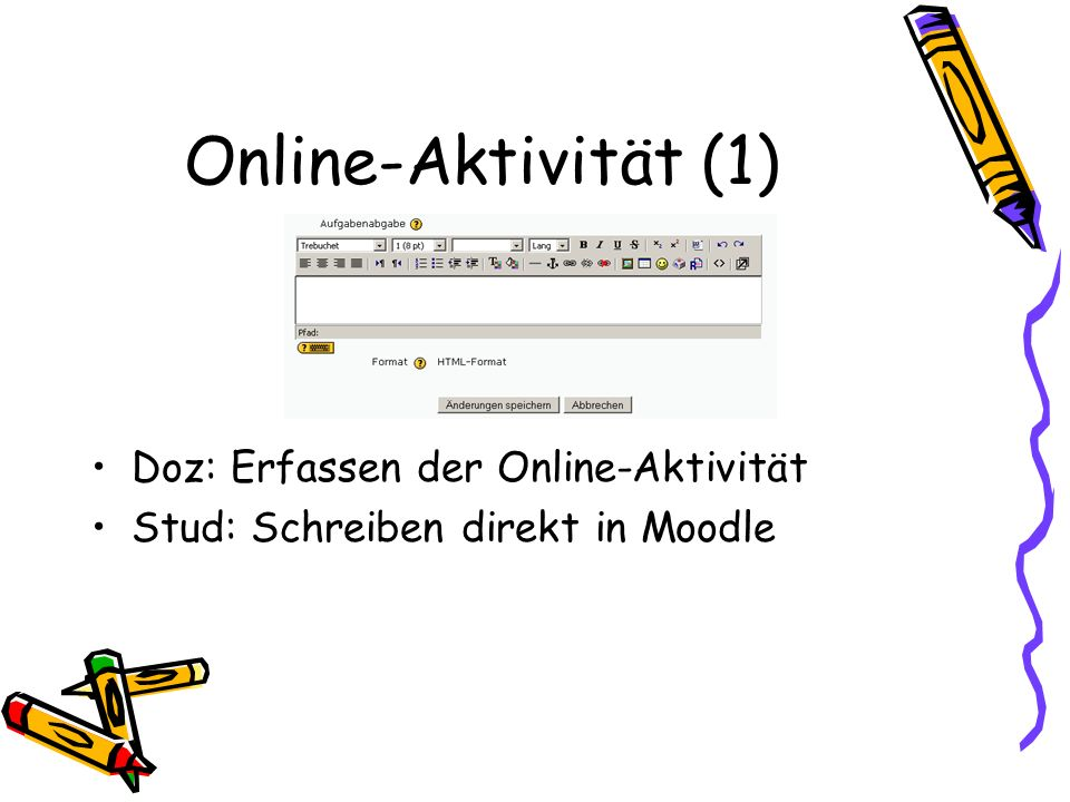 Online-Aktivität (1) Doz: Erfassen der Online-Aktivität